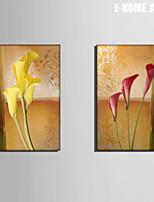 Botánico Impresión de la lona Dos Paneles Listo para colgar , Vertical