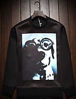 Men's Long Sleeve T-Shirt  Cotton Casual  Work Print