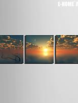 Paesaggio Print Canvas Tre Pannelli Pronto da appendere , Quadrato