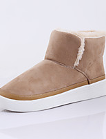 ROAD SWIFT®Women's Casual Shoes Fleece Flat Heel Snow Boots Black / Beige