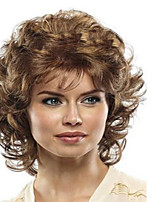 Hot Selliing Europe and America Hihg Quality Short Synthetic  Curl Wigs