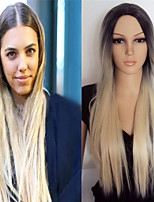 The New Europe And The United States Hot Sell Mixed Color 1 b / 27 long Straight Hair Synthetic Wigs