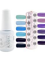 YeManNvYou®1PCS Sequins UV Color Gel Nail Polish No.25-36 Soak-off(15ml,Assorted Colors)