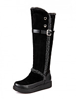 Women's Shoes Low Heel Round Toe / Closed Toe Boots Office & Career / Dress / Casual Black / Brown / Bone