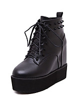Women's Shoes Leather Platform Cowboy / Western Snow Boots / Riding Bootie / Combat Boots BootsOutdoor / Office & Career