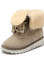 Women's Shoes Wedge Heel Snow Boots / Round Toe Boots Casual Black / Brown / Yellow / Beige