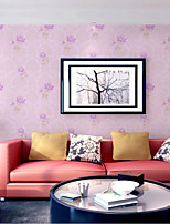Home Decor Art Sweet Lively Simple Rose Flower Floral Contemporary Pink Wallpaper Wall Covering PVC Wall Paper 10*0.45 M