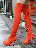 Women's Shoes Stiletto Heel Pointed Toe Boots Casual Black / Green / Gray / Orange / Khaki / Animal Print