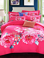 Bedding Set Cotton Twill Upset to Keep Warm Big Edition Flower Bedding Four Pieces