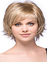 European  Lady Women Sweet Short   Syntheic  Wave  Wigs Extensions Beautiful