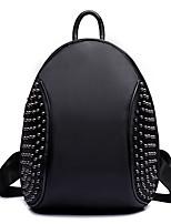 VENETA® Women PU Bucket Backpack / School Bag / Travel Bag - Black