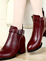 Women's Shoes AmiGirl Best Sales Leather Stiletto Heel Fashion Sexy Boots Wedding/Party/Dress Black/Red