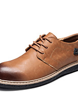 Men's Shoes Outdoor / Office & Career / Casual Leather Oxfords Brown / Gray