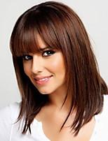 luonnollinen nykyihmisen neitsyt Remy käsi sidottuna-top keskipitkät suora naisen hiukset peruukki