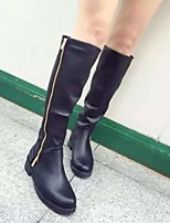 Women's Shoes Low Heel Comfort Boots Outdoor Black
