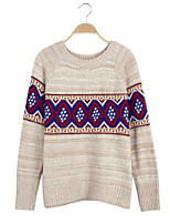 Women's Fashion Vintage Wool Cashmere Pullover Knit Sweater