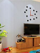 Fringe Solid Color Blue PVC Wall Paper 10*0.45 M
