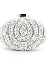 Women Polyester / Silk Baguette Shoulder Bag / Clutch / Evening Bag / Coin Purse - White / Beige / Black