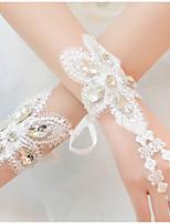 Wrist Length Fingerless Glove Lace Bridal Gloves / Party/ Evening Gloves / Flower Girl Gloves