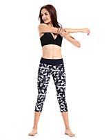 Mujer Carrera Prendas de abajo / 3/4 Medias Yoga / Pilates / Fitness / Deportes recreativos / RunningTranspirable / Secado rápido / Listo