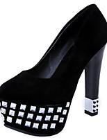 Women's Shoes Stiletto Heel Heels / Platform / Round Toe Heels Party & Evening / Dress / Casual Black