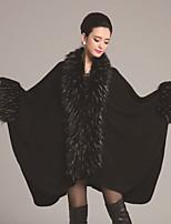 Women's Solid Black Shrug , Vintage / Party Sleeveless