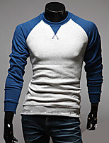 Men's Long Sleeve T-Shirt , Cotton Blend Casual Pure