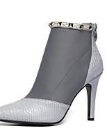 Women's Shoes Stiletto Heel  Pointed Toe Boots Dress Black / Gray