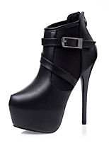 Women's Shoes Stiletto Heel Platform / Bootie / Pointed Toe / Closed Toe Boots Dress Black / Gray / Burgundy