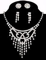 Femme Colliers chaînes Strass Alliage Fait à la main Bijoux de Luxe Bijoux Pour Mariage Soirée Fiançailles