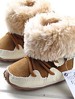 Baby Shoes Outdoor / Casual Calf Hair / Leatherette Boots Brown / Red