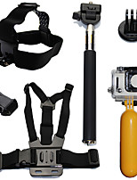 6in1 Gopro Monopod Accessories for Gopro Float Bobber Chest Belt For Gopro Hero 4 Session 3 SJ4000 Xiaomi yi