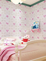 Home Decor Art Pink Floral Wallpaper Classical Country Wall Covering  PVC Wall Paper  10*0.45 M