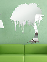 Forme / 3D Stickers muraux Miroirs Muraux Autocollants , PS 56*66cm