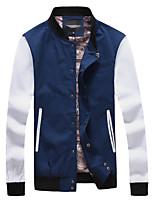 Men's Fashion Stand Collar Patchwork Slim Fit Jacket