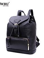HOWRU® Women 's PU Backpack/Tote Bag/Leisure bag/Travel Bag -Black