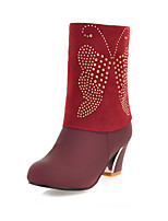Women's Shoes Chunky Heel Round Toe Mid-Calf  Boots More Colors available