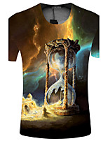 CliffWalker Men of high quality digital printing round collar short sleeve T-shirt