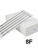 ITATOO™ 50pcs 1208F Platinum Stainless Steel Tattoo Machine Needles on Sale Best Acero Inoxidable Agujas