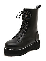 Women's Shoes Chunky Heel Comfort Boots Outdoor Black