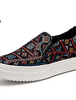 Fashion Low-Heeled Canvas Shoes Lazy Pedal Shoes Woman