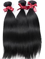 Malaysia Virgin Hair Straight Wefts Unprocessed Malaysia Silkuy Straight Hair #1B Color Hair Bundles Top Grade 3Pcs/lot