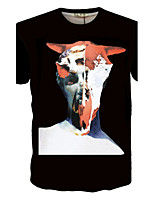 Men's fashion digital printing short sleeve T-shirt