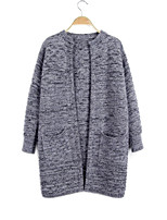 Women's Fashion Casual Solid Wool Cashmere Cardigan Knit Sweater