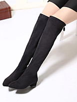 Women's Shoes Patent Leather Low Heel Fashion Boots Boots Casual Black