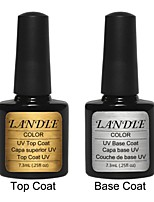LANDLE Soak Off UV Nail Gel Polish Top And Base Coat Foundation LED Manicure Gel