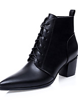 Women's Shoes Chunky Heel Bootie / Pointed Toe / Closed Toe Boots Dress Black