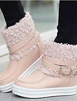 Chaussures Femme - Habillé / Décontracté - Noir / Rose / Beige - Talon Compensé - Bout Arrondi - Bottes - Similicuir
