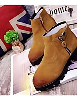 Women's Shoes Chunky Heel Riding Boots Boots Casual Black / Brown