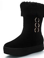 Calçados Femininos - Botas - Conforto - Plataforma - Preto / Marrom / Vermelho - Camursa - Ar-Livre